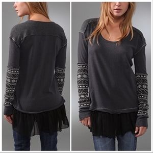 "EUC - Free People ""Claire's BFF"" long sleeved tee"